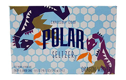 Polar Seltzer Impossibly Good Dragon Whispers 6 pk 8 ounce cans.