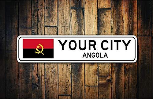 qidushop - Cartel de Metal con la Bandera de Angola: Amazon ...