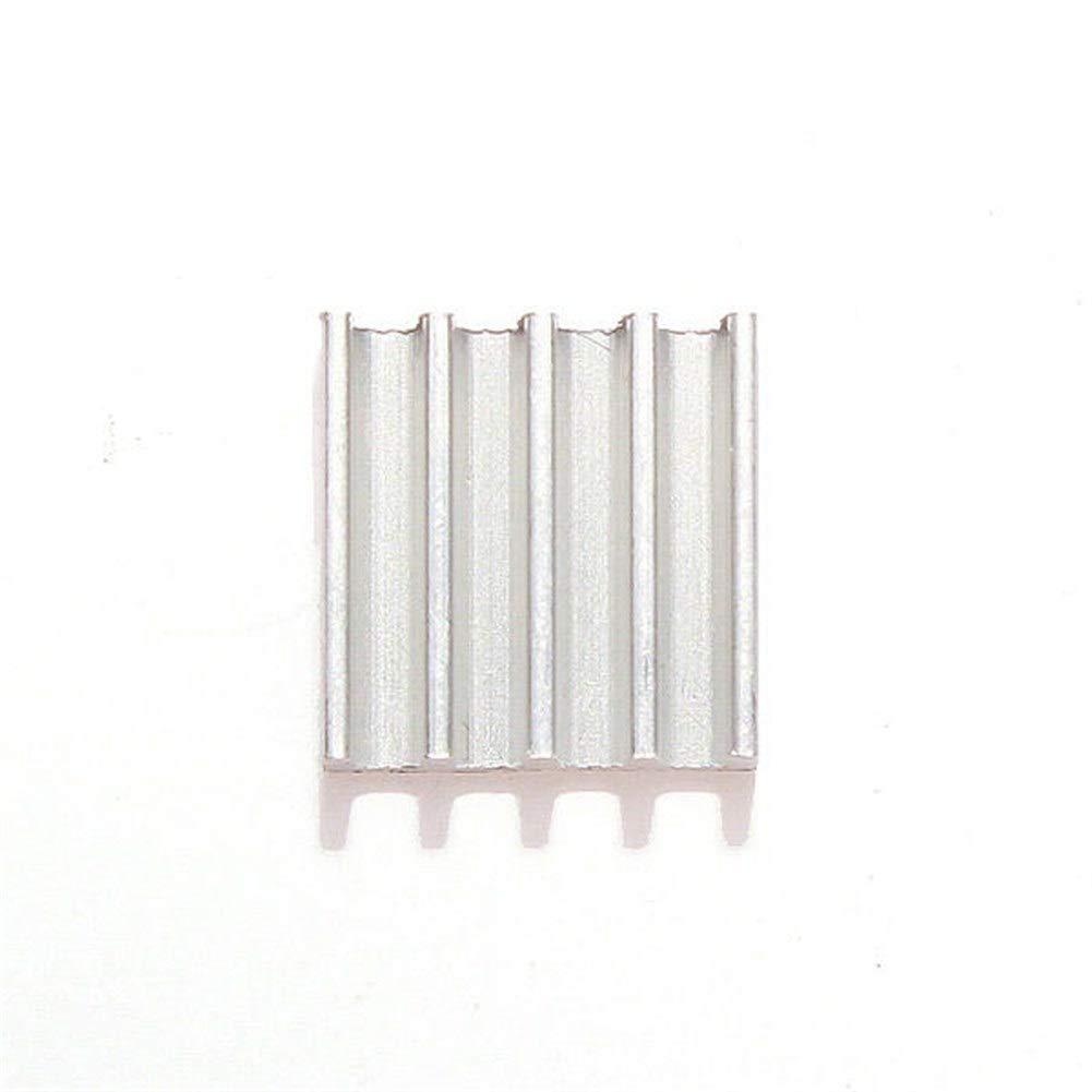 YONH Wa 9 * 9 * 5 mm de Aluminio disipador de Calor con Adhesivo ...