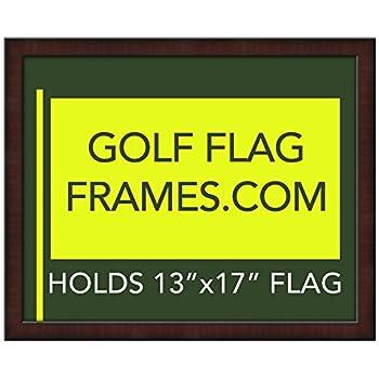 16x20 Mahogany Golf Flag Frame Moulding Brn 002 Green Mat Holds 13x17