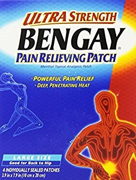 h, Pain Relieving Patch, Large Size, 4 Count - Buy Packs and SAVE (Pack of 3) (Bengay Pain Patch)