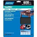 Norton 48058 Sandwet 5-Pack Sandpaper 600 Grit, 9-Inch x 11-Inch Sheets