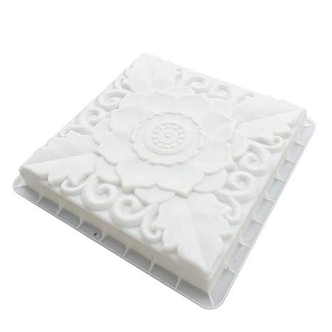 BESTOMZ DIY Molde para Cemento Molde para Hormigón Molde de Piedras de Pavimento de Loto para