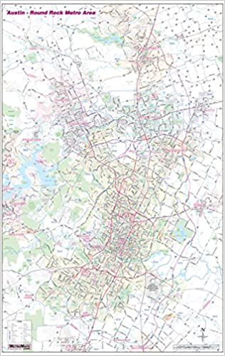 Austin - Round Rock TX Metro Wall Map w/Zip Codes *Laminated/Dry ...