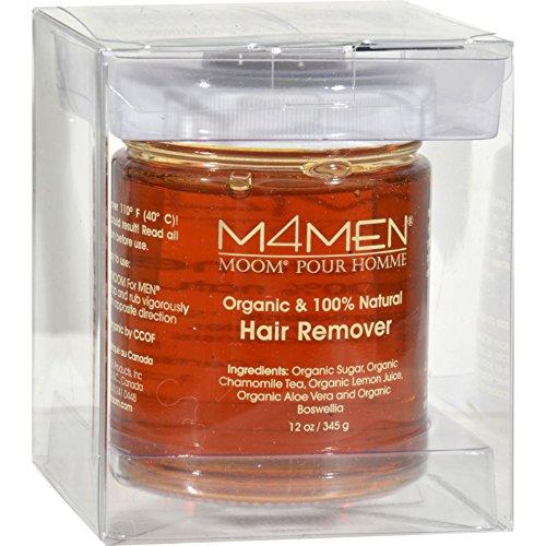 Moom For Men Hair Removal System Refill Jar - 12 oz (Pack of 4)