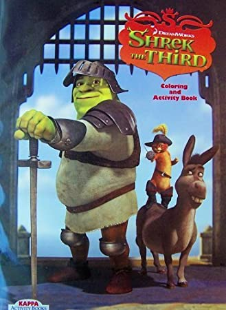 Amazon.com: Shrek The Third Coloring Book: Toys & Games