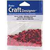 Darice 1004330 Cupped Sequins, 5mm, Red, 800 Pack