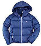 RALPH LAUREN Polo Girls Primaloft Water Resistant Jacket Coat (Newport Navy, 4T)