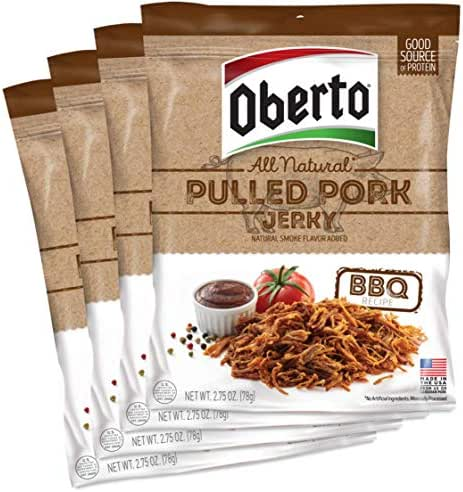 Jerky & Dried Meats: Oberto Pulled Pork Jerky