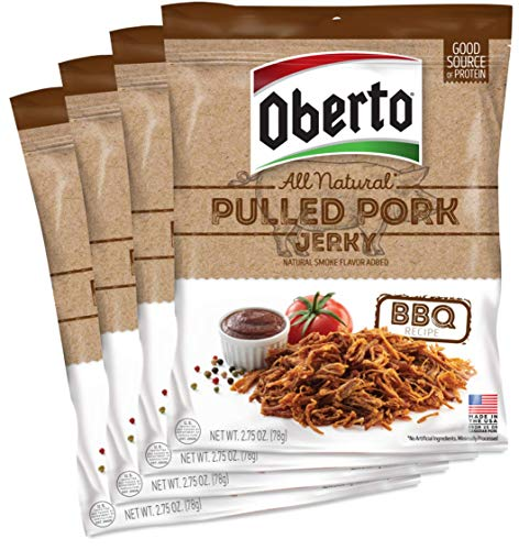 - Oberto All-Natural BBQ Pulled Pork Jerky, 2.75 Ounce (Pack of 4)