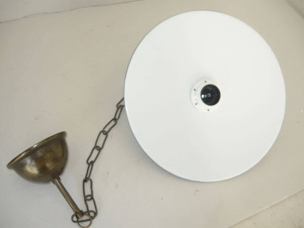 Lámpara de techo con acabado en latón pulido Plato esmaltado ...