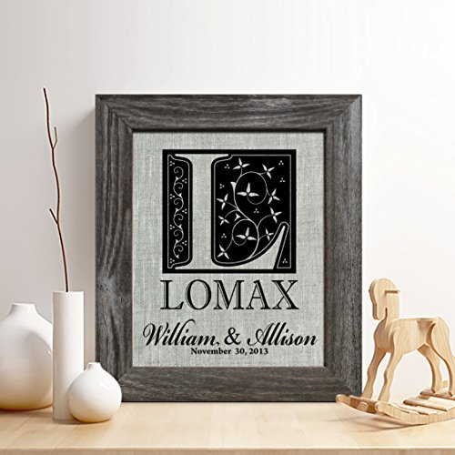 Personalized 4th Linen Anniversary Gift for Him or Her, Surname and Special Date Linen Print, Gifts for Husband and Wife, 4 Years Together
