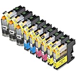 9 Pack Compatible Brother LC101 , LC103 3 Black, 2 Cyan, 2 Magenta, 2 Yellow for use with Brother DCP-J152W, MFC-J245, MFC-J285DW, MFC-J4310DW, MFC-J4410DW, MFC-J450DW, MFC-J4510DW, MFC-J4610DW, MFC-J470DW, MFC-J4710DW, MFC-J475DW, MFC-J650DW, MFC-J6520DW, MFC-J6720DW, MFC-J6920DW, MFC-J870DW, MFC-J875DW. Ink Cartridges for inkjet printers. LC101BK , LC101C , LC101M , LC101Y , LC103BK , LC103C , LC103M , LC103Y © Zulu Inks