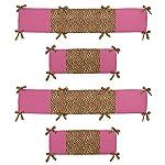 Sweet-Jojo-Designs-Cheetah-Girl-Collection-Crib-Bumper