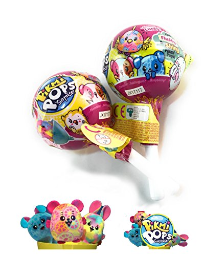 NEW! PIKMI POPS Single Pack! - Set of 2 - It's not a lollipop, it's a Pikmi Pops! - Super Cute Plushies
