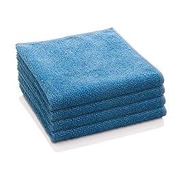 E-Cloth General Purpose Microfiber Cleaning Cloth, Alaskan Blue, 4 Count