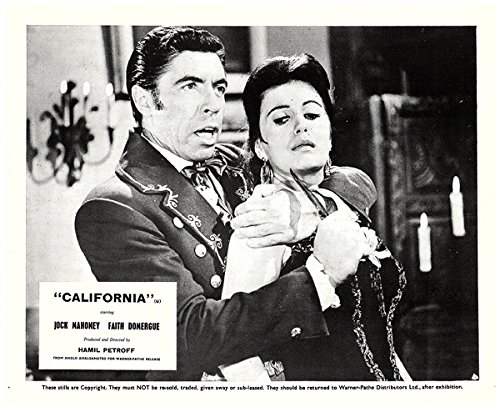 (CALIFORNIA ORIGINAL LOBBY CARD FAITH DOMERGUE MICHAEL PATE)