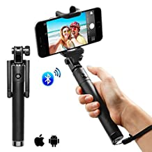 Selfie Stick, Bluetooth Selfie Stick Monopod with Built-in Remote Shutter, Foldable Extendable, for iPhone 6S/6/6 Plus/5S/, Galaxy/S6/S6 Edge/S7/S7Edge