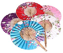 Anniverl folding fan handheld Japanese traditional bamboo SENSU (Can not select color) AX-JP-SS-6