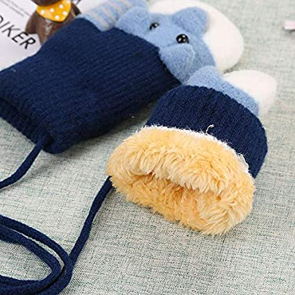 Kakoop 1 Doppel 1 Verkauf; Kinder Doppel plus Samt Verdickung im Freien warme Handschuhe Winterhandschuhe F/äustlinge Baby Cartoon Handschuhe Hand verdickt Doppelstrick Pl/üschhandschuhe