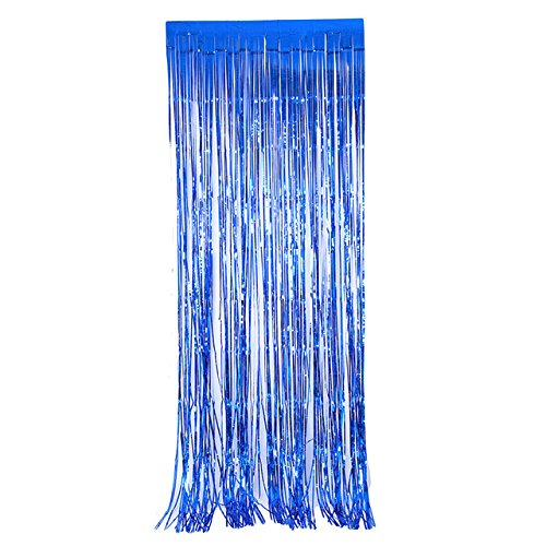Laz-Tipa - 245x92cm Foil Party Door Curtain Tinsel Shimmer Birthday Wedding Decorations Wedding Background Party Photo Booth Props IC602693 by Laz★Tipa
