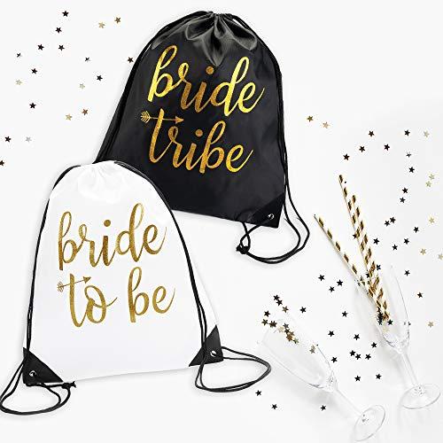 Bride & Bride Tribe Drawstring Bags (7) -