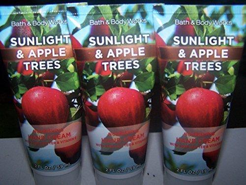 Lot of 3 Bath & Body Works Sunlight & Apple Trees Nourishing Hand Cream 2 Fl Oz Each (Sunlight & Apple Trees) Body Lotion Passionate Pear