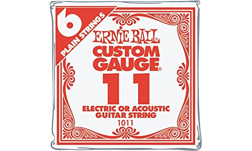 Ernie Ball Nickel Plain Single Guitar String .011 6-Pack