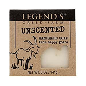 Unscented Goat Milk Soap - 5 Oz Bar - Great For Sensitive Skin