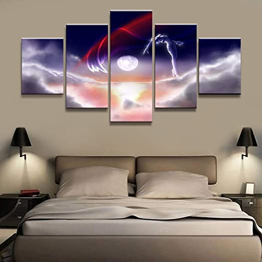 mmwin Wall Art Pictures Canvas 5 Pcs Poster Neon Genesis ngelion ...
