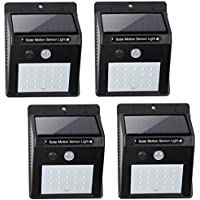 4-Pack BN-LINK Outdoor On Wall Solar Powered Light