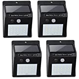 Cheap BN-LINK Outdoor On Wall Solar Powered Light, Motion Sensor Infrared, 20 LED (450 Lumen), Wireless Waterproof Heatproof Security Wall Light, Auto On/Off (4 Pack) Value Pack
