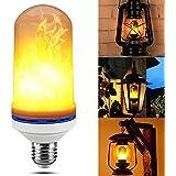 TUZECH Flickering Flame Light Fire Bulb Decorative Light LED Fire-Effect for Home Decor,Hotel Decor 4 Lighting Modes - B22 PLUG …