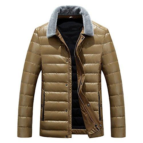 Ispessimento Il L'inverno Caldo Kaki Luotianlang Pelle Alta Verso Qualità Pu Della Basso Giovane Moda Uomini Corta Cappotto Di Giacca PYw1q