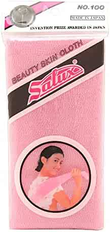 Salux Nylon Japanese Beauty Skin Bath Wash Cloth/Towel - Pink