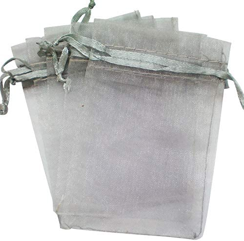 Time to Sparkle TtS 25 Pack Organza Gift Bags Wedding Party Favour Jewellery Packing Pouches Silver 30x40cm