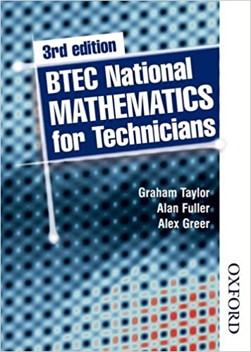 BTEC National Mathematics for Technicians Third Edition