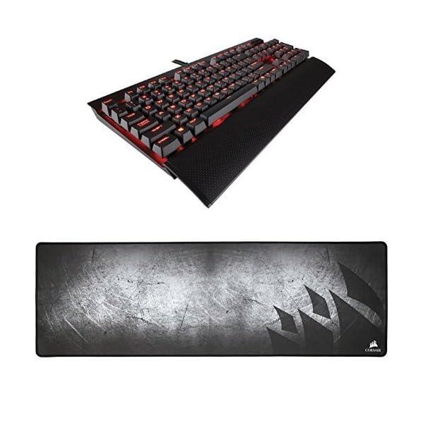 CORSAIR K70 RAPIDFIRE Mechanical Gaming Keyboard – Backlit Red LED –...