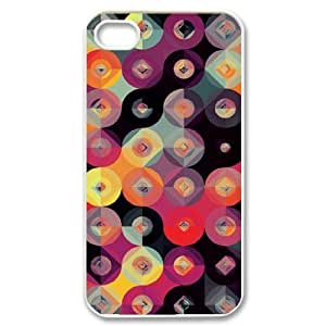 Customized Cover Case with Hard Shell Protection for Iphone 4,4S case with Creative Geometric lxa#880763