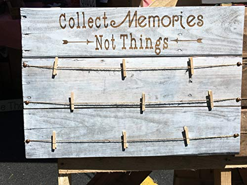 Wooden Memory Board- Collect Memories, Not Things