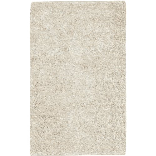 Surya Aros AROS-2 Shag Hand Woven 100% New Zealand Felted Wool Winter White 5' x 8' Area (Rugs Aros Wool Shag Rug)