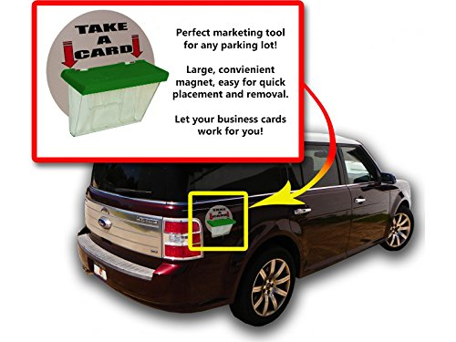 Marketing Holders Magnetic Outdoor Vehicle Business Card Holders Green Lid Qty ()