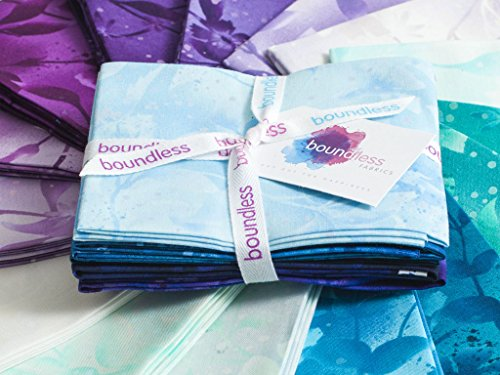 Craftsy Boundless Blenders Botanical Hydrangea Precut Fabric (Fat (0.25 Yard Bundle)