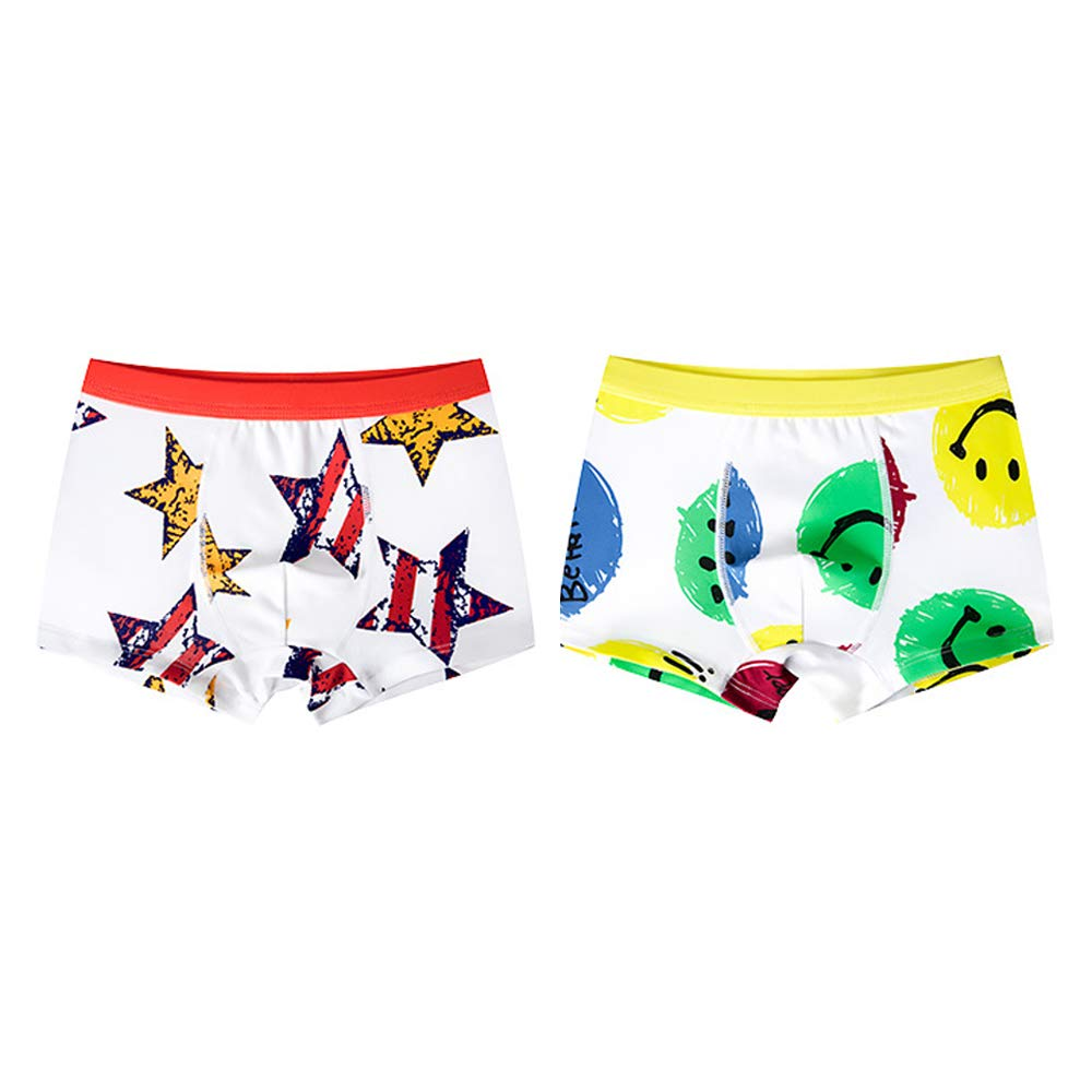 Cotton Breathable Boys Boxer Briefs Moisture Absorption Panty GOWE Kids Underwear U-Shaped Space Capsule Design