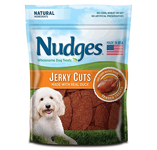 Nudges Wholesome Dog Treats, Premium Jerky Cuts, Roasted Duck Recipe, 18 Ounce