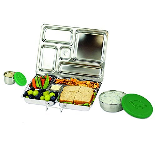 PlanetBox ROVER Eco-Friendly Stainless Steel Bento Lunch Box with 5 Compartments for Adults and Kids (Rockets Carry Bag with Rockets Magnets) by PlanetBox (Image #5)