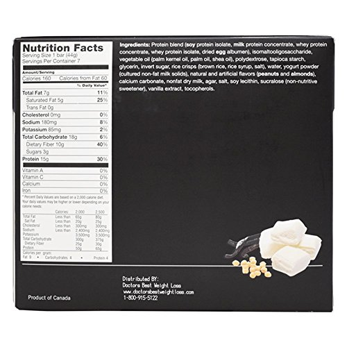 ProtiWise - Fluffy Vanilla Crisp High Protein Diet Bars | Gluten Free, Low Calorie, Low Fat, Low Sugar, (12 Boxes) by Proti Wise (Image #2)