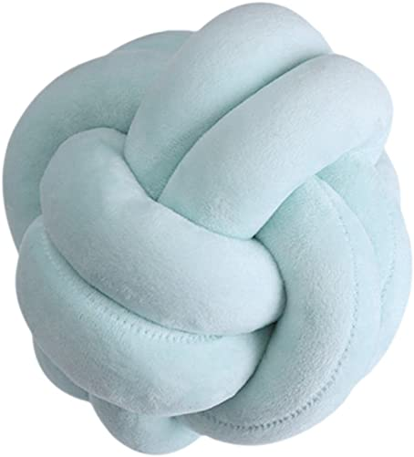 UmayBeauty Light Blue Knot Pillow Knot Cushion Simple Style Supper Soft Fluffy Throw Pillow for Car Sofa Girlfriends Playing – 22CM