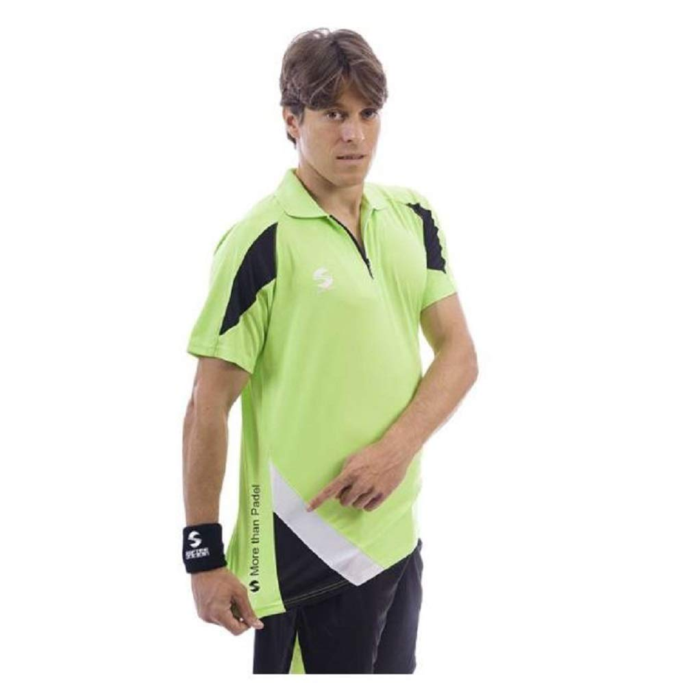 Softee - Polo Padel K3 Color Verde/Negro/Blanco Talla S ...