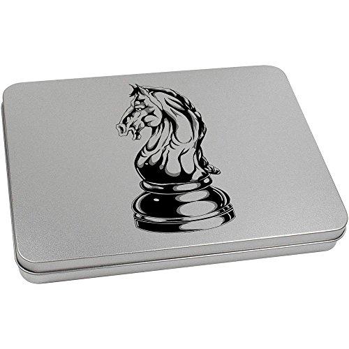 Azeeda 220mm 'Knight Chess Piece' Metal Hinged Tin / Storage Box (TT00088230) ()